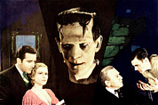 Horror Movies Framed Prints - Frankenstein, From Left John Boles, Mae Framed Print by Everett