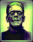 Wolfman Framed Prints - Frankenstein in Color Framed Print by Joan  Minchak