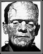 Boris Drawings - Frankenstein by James Boehmer