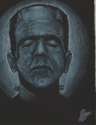 Frankenstein Drawings Prints - Frankenstein Print by Joshua Abshier