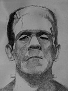 Frankenstein Drawings Prints - Frankensteins Monster Print by Glenn Daniels