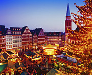 Christmas Market Photos - Frankfurt Christmas Market by Brian Lawrence
