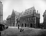 Old Building Prints - Frankfurt Germany 1898 Print by Stefan Kuhn