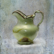 Pottery Pitcher Metal Prints - Frankhoma Pitcher Metal Print by Betty LaRue