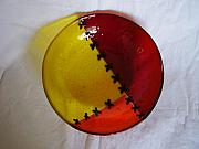 Bowl Glass Art - Frankie by Michele Palenik