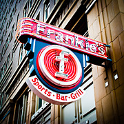 Sports Bar Prints - Frankies Sports Bar and Grill Print by David Waldo