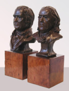 Benjamin Franklin Sculptures - Franklin and Marshall by John Gibbs