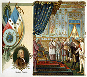 Bowing Framed Prints - Franklin At Versailles Framed Print by Granger
