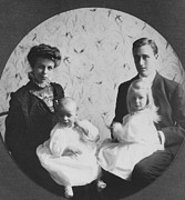 Franklin D. Roosevelt And Young Wife Print by Everett
