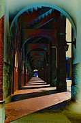 Concourse Digital Art Framed Prints - Franklin Field Concourse Arch Framed Print by Bill Cannon