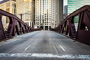 Downtown Franklin Photo Prints - Franklin Orleans Street Bridge Chicago Loop Print by Paul Velgos