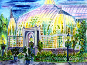 Franklin Mixed Media Metal Prints - Franklin Park Conservatory Metal Print by Helen Kern