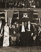 Franklin Roosevelt Inaugurated Print by Everett