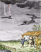 Irresponsible Posters - Franklins Lightning Experiment, 1752 Poster by Sheila Terry