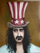 Mustache Painting Prints - Franks Hat Print by Leah Saulnier The Painting Maniac