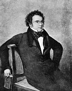 Well Known People Prints - Franz Peter Schubert, Austrian Composer Print by Omikron