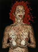 Surrealism Art - Frau mit Eiern by Tina Blondell