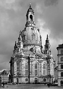 Black Prints - Frauenkirche Dresden - Church of Our Lady Print by Christine Till