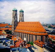 Onion Domes Photos - Frauenkirche Munich  by Kevin Smith