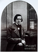 Chopin Prints - Frédéric Chopin, Polish Composer Print by Photo Researchers, Inc.