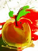 Food And Beverage Mixed Media - Freaking Apple by Michael De Alba