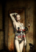 Goth Digital Art Posters - Freaks - The First Girl in the Basment Poster by Luca Oleastri