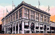 Troy Paintings - Frears Department Store In Troy N Y In 1907 by Dwight Goss
