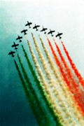 Tricks Photo Framed Prints - Frecce Tricolori Framed Print by Andrea Barbieri