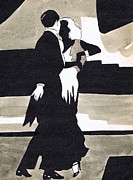 Fashion Plates Prints - Fred and Ginger Print by Mel Thompson