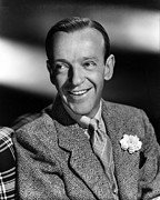 Lapel Framed Prints - Fred Astaire, Ca. 1940s Framed Print by Everett