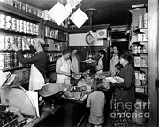 Fred Grovers Grocery Store Print by Photo Researchers