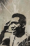 Grafitti Mixed Media - Fred Hampton by Dustin Spagnola