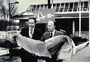 Businesses Prints - Fred Turner And Ray Kroc The Executive Print by Everett