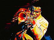 Bop Framed Prints - Freddie Hubbard Framed Print by Vel Verrept