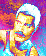 Unique Art Prints - Freddie Mercury Print by Juan Jose Espinoza