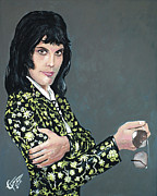 Singer Paintings - Freddie Mercury by Tom Carlton