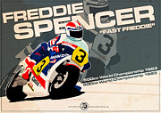 Evan DeCiren Art - Freddie Spencer - 500cc 1983 by Evan DeCiren