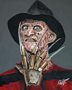 Glove Painting Originals - Freddy Kruger by Tom Carlton