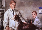 Scientists Art - Frederick Banting And Charles Best by Everett