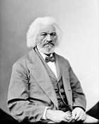 1800s Framed Prints - Frederick Douglass 1818-1895, African Framed Print by Everett