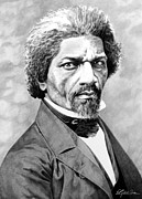 Douglass Drawings - Frederick Douglass by Elizabeth Scism