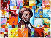 Douglass Paintings - Frederick Douglass by John Lautermilch