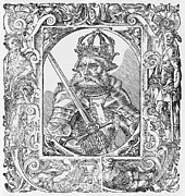 Roman Emperor Framed Prints - Frederick I Barbarossa Holy Roman Emperor Framed Print by Middle Temple Library