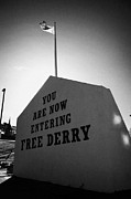 Irish Artists Prints - Free Derry Corner Bogside Ireland Print by Joe Fox