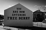Irish Artists Prints - Free Derry Corner Northern Ireland Print by Joe Fox