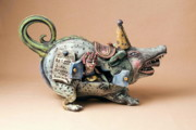 Pottery Ceramics - Free ride by Kathleen Raven