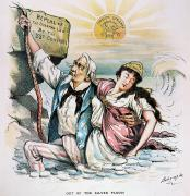 Repeal Prints - Free Silver Cartoon, 1893 Print by Granger