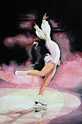 Figure Skating Print Painting Originals - Free Spirit by Hanne Lore Koehler