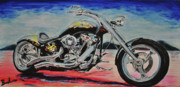 Harley Davidson Paintings - Free Spirit by Ruben Barbosa