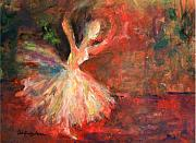 Ballet Dancers Painting Prints - Free to be Me Print by Deb Magelssen